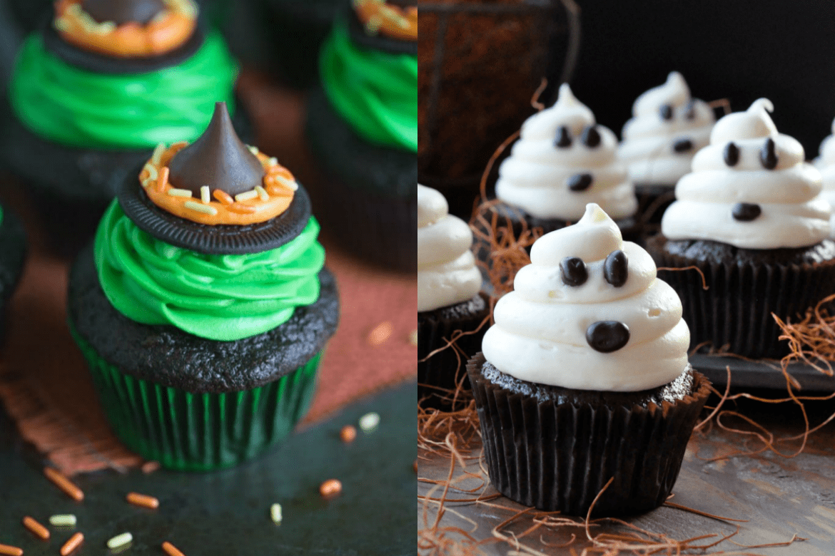 10 scary easy halloween cupcake ideas savvy honey - Halloween decorations for cupcakes ...