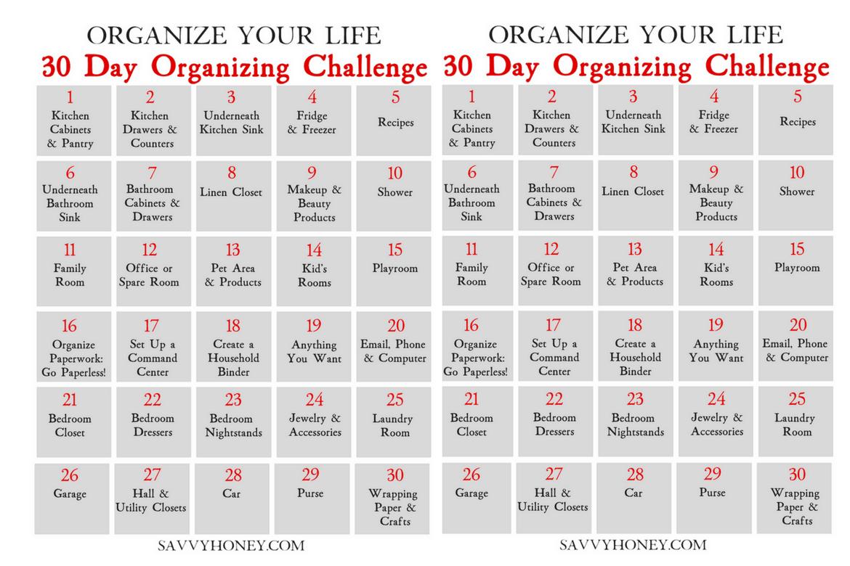 30 Day Organizing Challenge