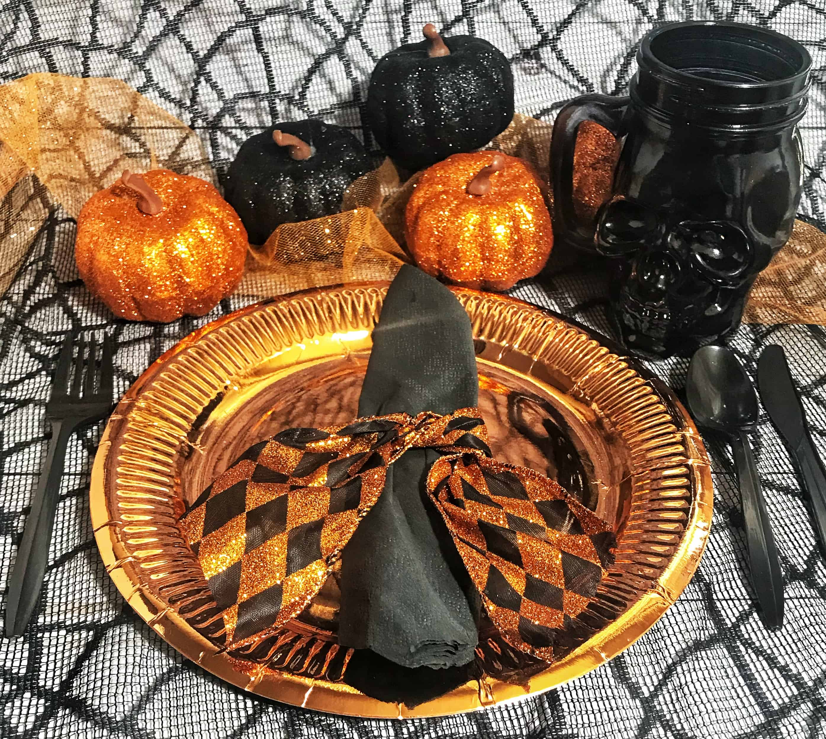 awesome dollar store halloween party table decorations - savvy honey