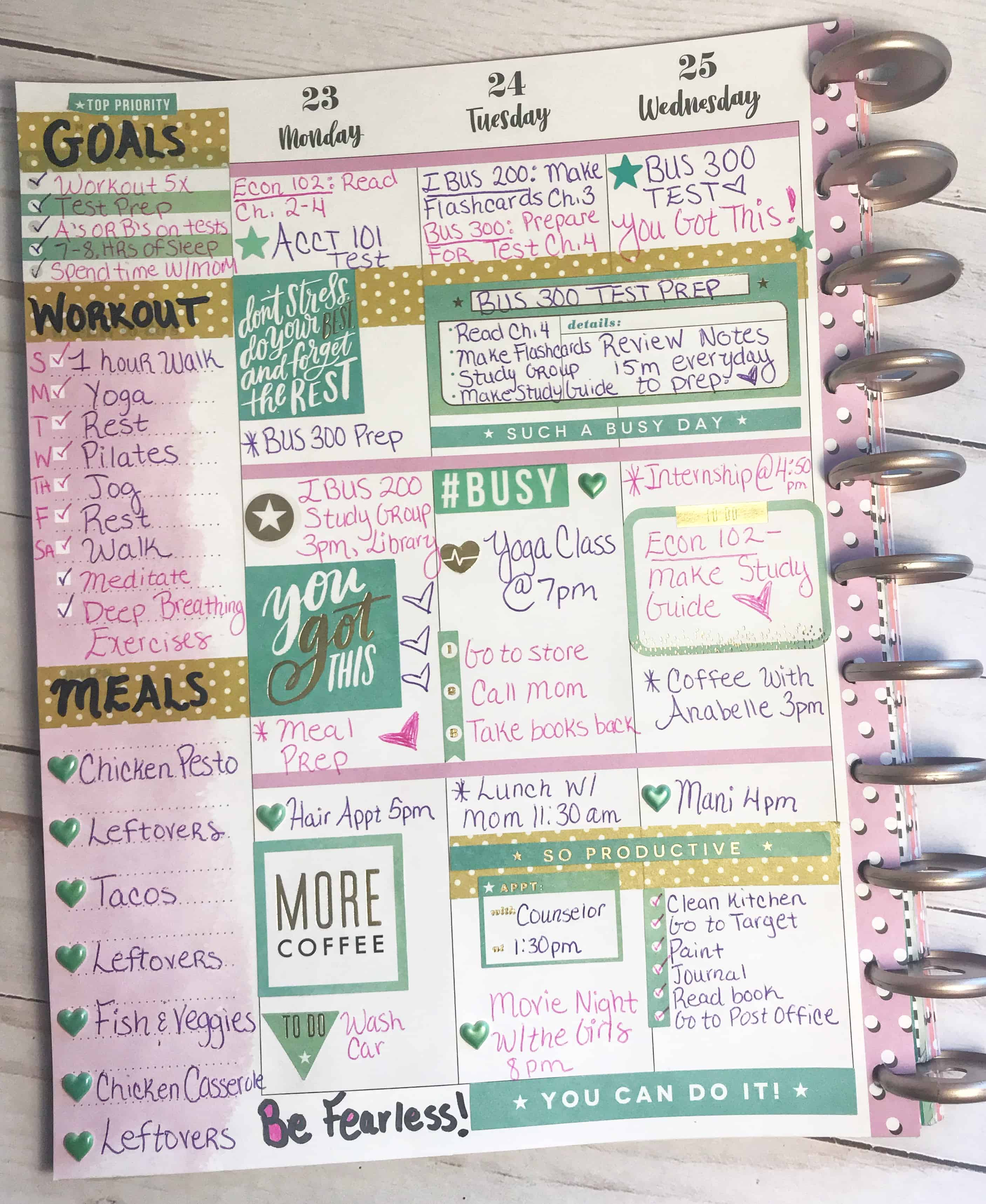 Happy Planner Layout