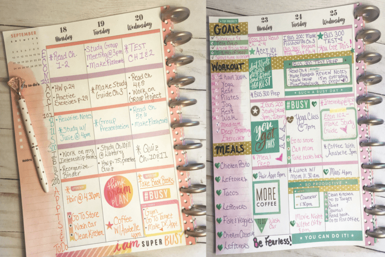 Genius Planner Layout Ideas To Be Crazy Organized At College & School