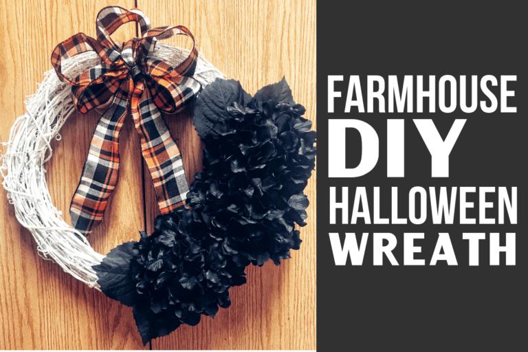 DIY Halloween Wreath – Fall & Farmhouse Decor
