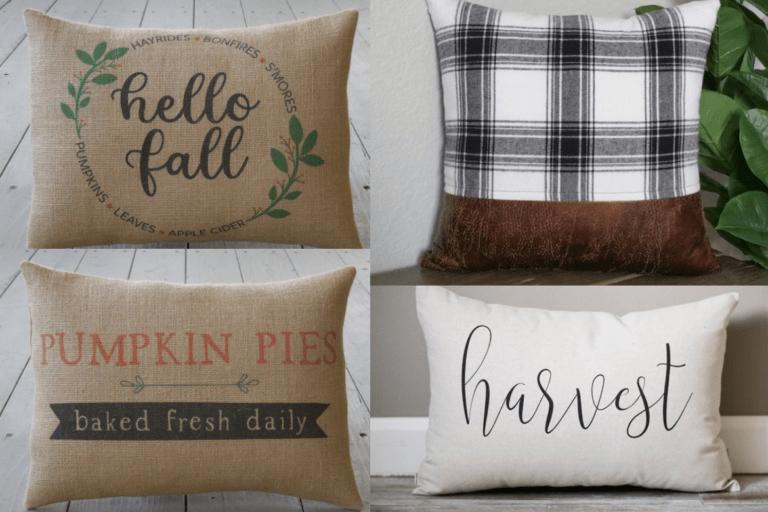 Cute Fall Pillows: Add Farmhouse Style To Your Fall Decor