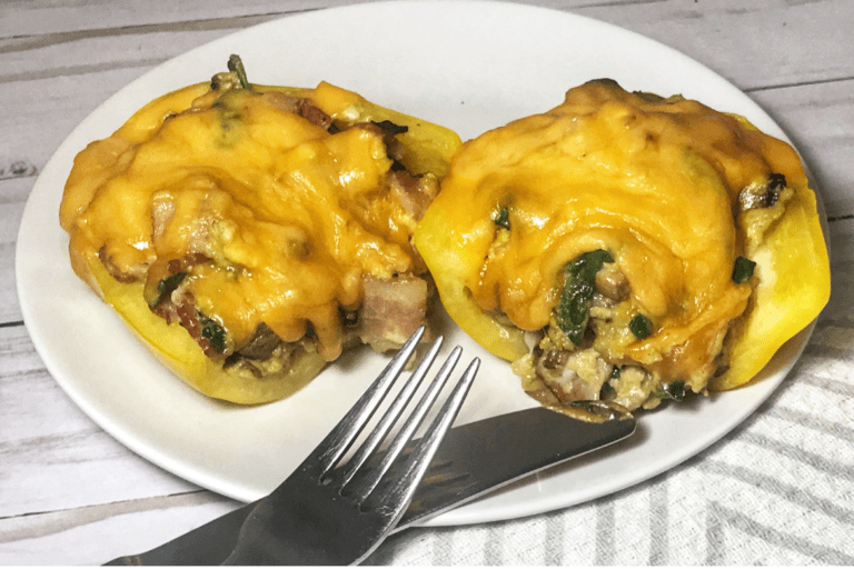 Easy Keto Bacon Stuffed Peppers for Breakfast (Low Carb)