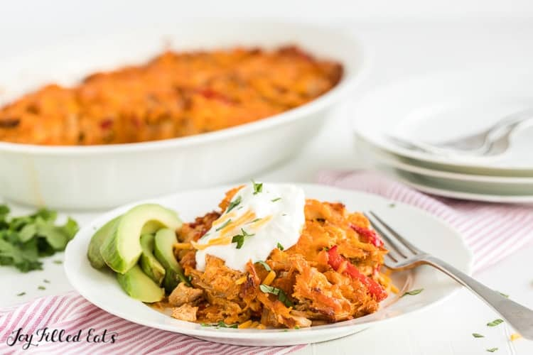 Easy Chicken Fajita Casserole