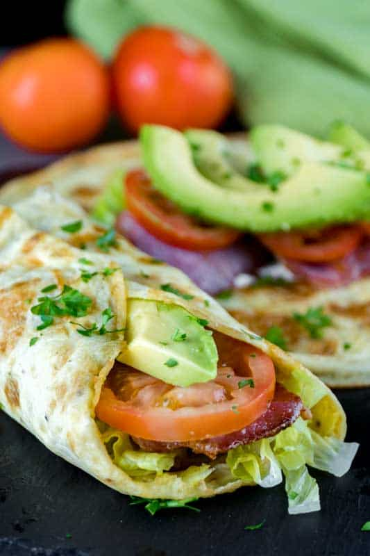 Keto Mexican Breakfast Burrito