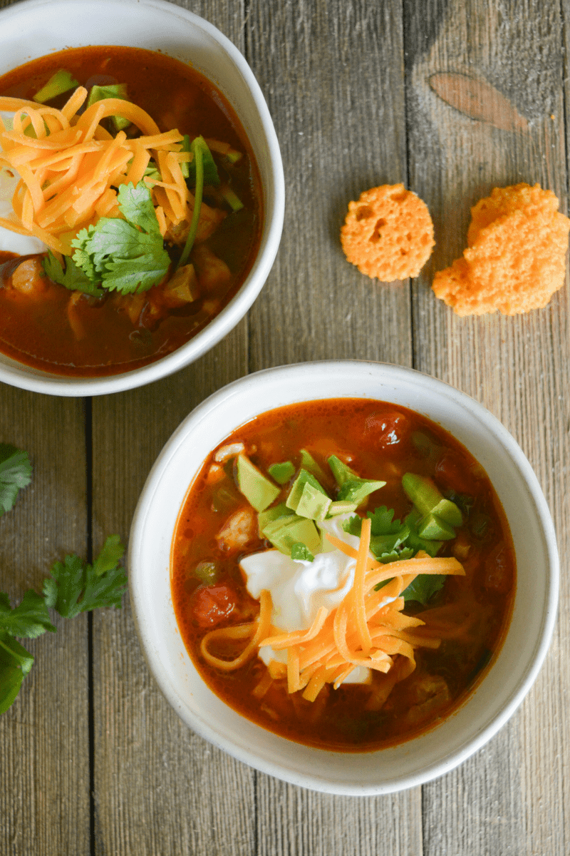Keto Chicken Taco Soup