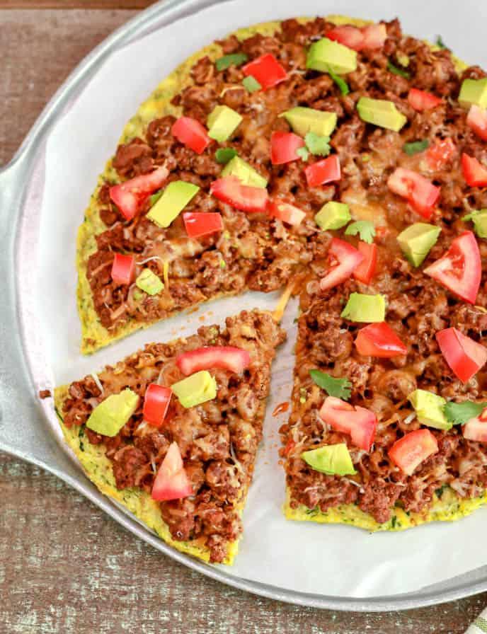 Keto Mexican Pizza
