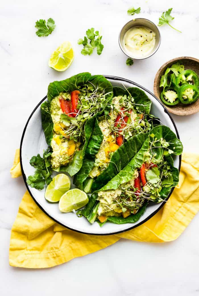 Low Carb Mexican Egg Salad Wraps