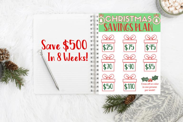 Christmas Savings Plan – Save $500 For Gifts Challenge