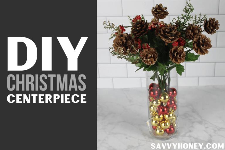 Easy DIY Christmas Decor Idea: Cheap Dollar Store Centerpiece!
