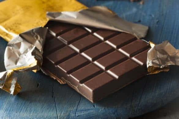 Dark Chocolate Bar In a Gold Wrapper