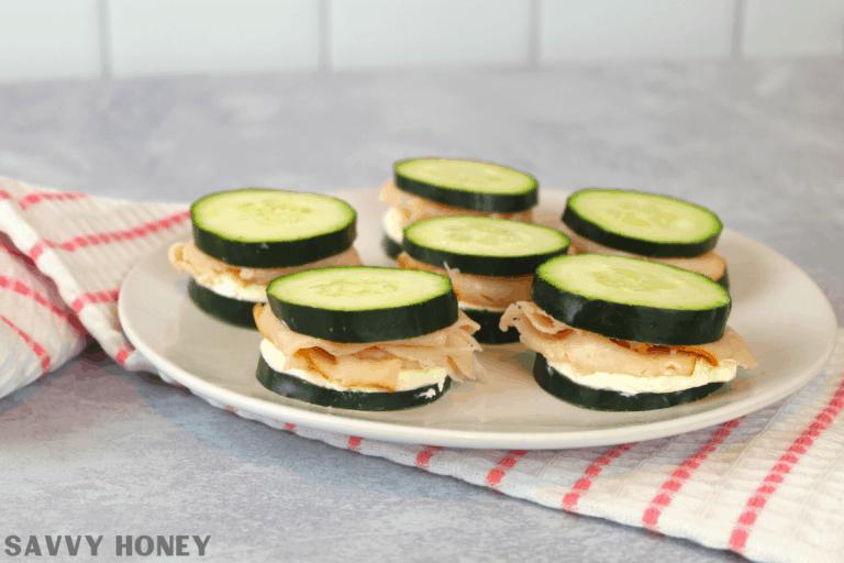 Easy Keto Cucumber & Turkey Sandwich