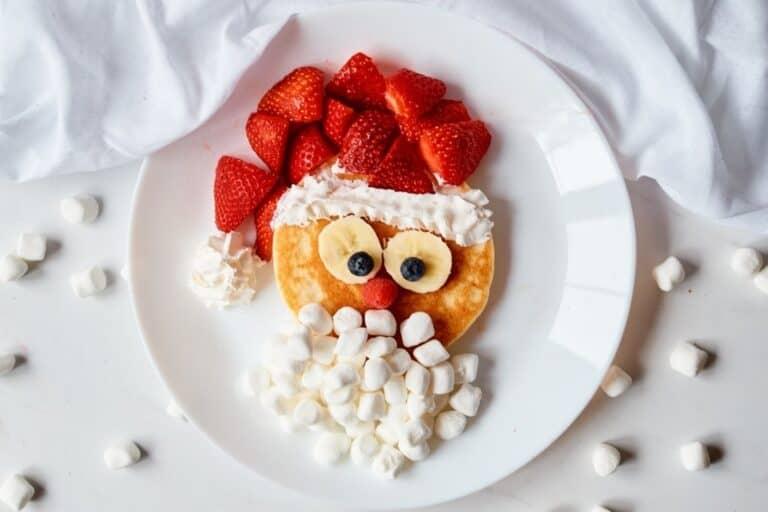 Santa Pancakes: Fun Christmas Morning Breakfast For Kids!